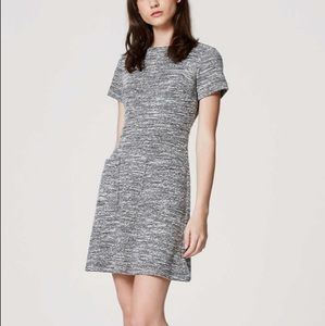 Loft Black and White Dress With Pockets